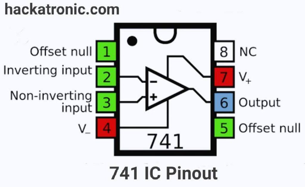 741 op amp Pinout