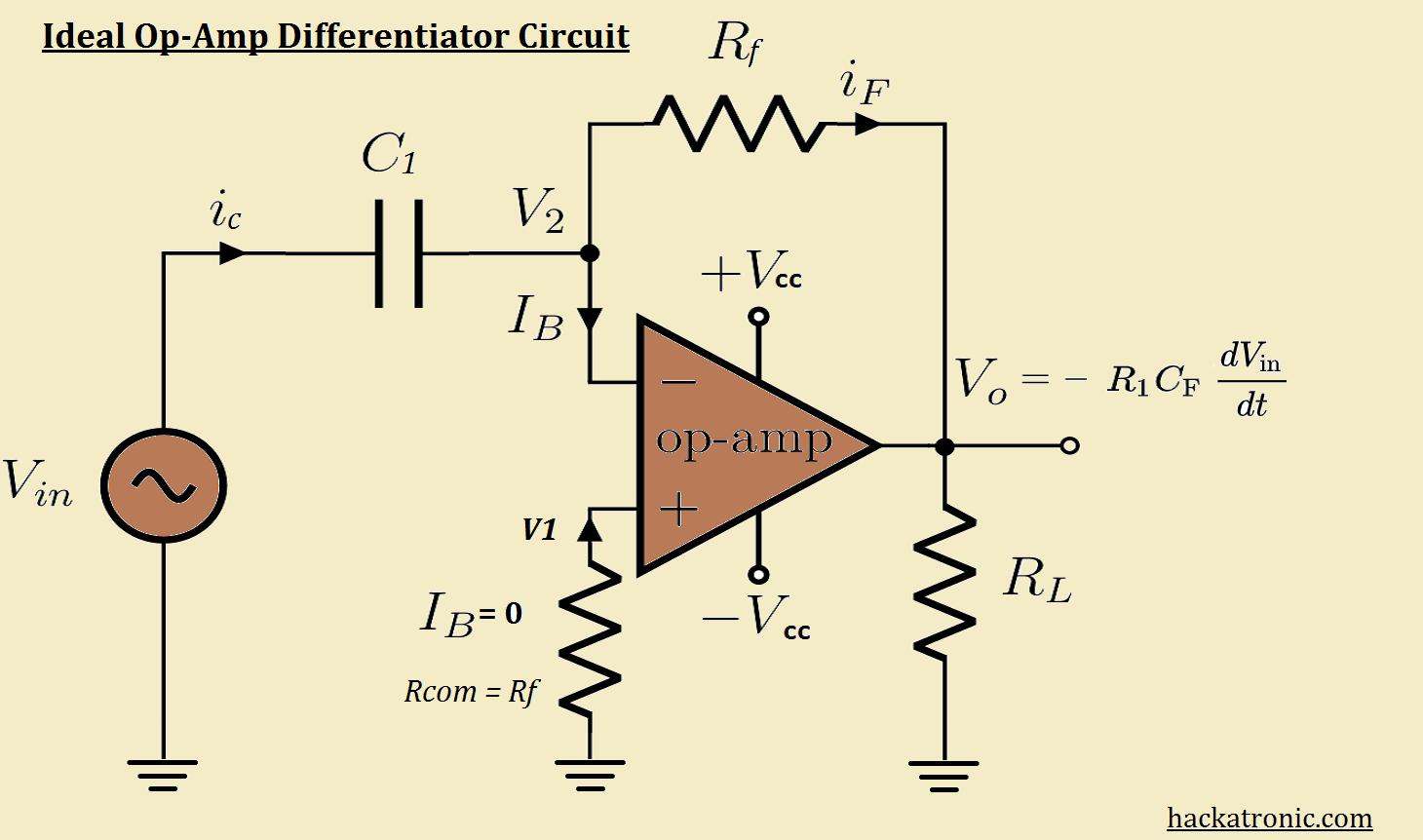 opamp differentiator circuit