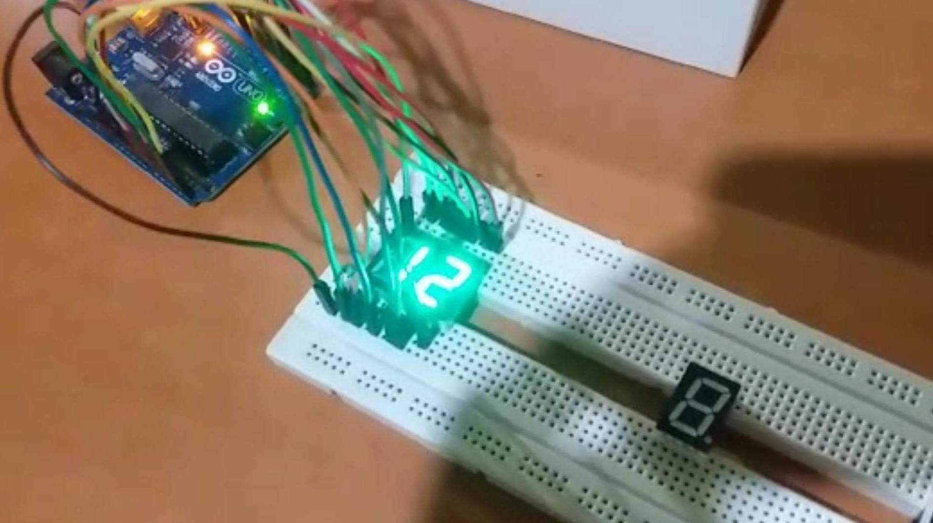 Arduino with 7 segment display