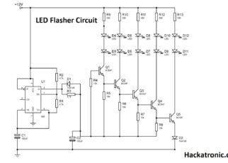 Circuit Diagram of LED Flasher